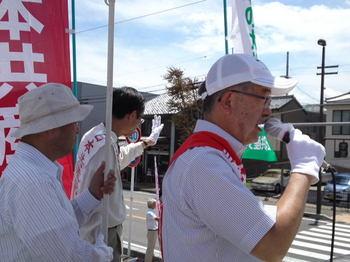 佐々木憲昭衆議院議員、関市で訴え 2013年7月14日.jpg